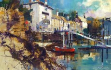 Chris Forsey RI - Dittsim quay from the pool