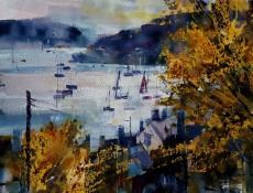 Chris Forsey - Autumn golds, Warfleet 15x12