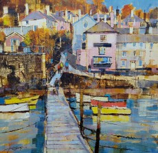 Chris Forsey Back from the ferry, Dittisham 20x20