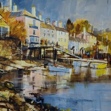 Chris Forsey - Bright and early, Dittisham 16x16