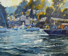 Chris Forsey Passing By Warfleet 20x30