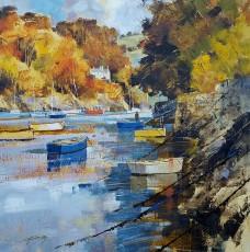 Chris Forsey - Golds and ambers, Autumn Warfleet 20x20