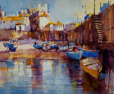 Chris Forsey - Harbour reflections St Ives 17x15