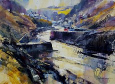 Chris Forsey Into the harbour, Boscastle 22x16