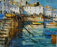 Chris Forsey - Ropes and reflections, Bayards Cove 19x16