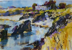 Chris Forsey - Shadows and sunshine, Harlyn Bay 18x13