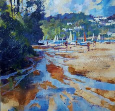 Chris Forsey Summer sailboats, Mill Bay 20x20