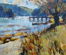 Chris Forsey Waters edge, Dittisham 20x24