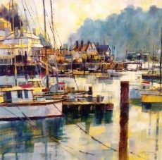 Chris Forsey - Calm Crossing the Dart 1095 51x51
