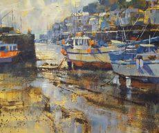 Low tide, Brixham 50x60