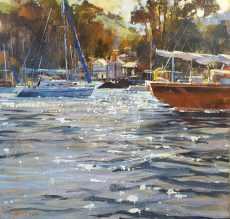 Sailing by, Warfleet 50x60