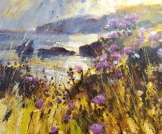 Thistles and Spring mist, from Berry Head 50x60