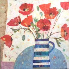 Sally Anne Fitter - Poppies in a welsh jug 61x61