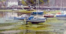 John Boyce - Boats at low tide