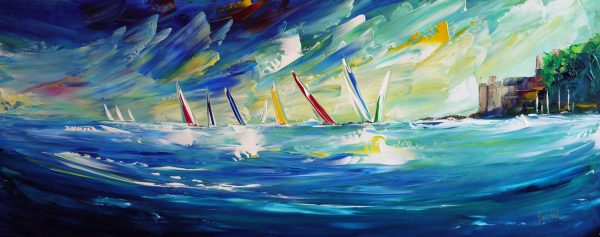 Regatta Practice by Jan Nelson