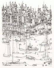 Kate Barker - Kingswear 1 - Pen and Ink 36x42 235