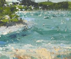 CP Just splashing about on the river.. 25x30cm plus frame Acrylic on panel.£950 inc vat