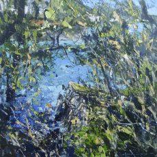 afternoon-walk-warfleet-creek-50x50cm-plus-frame-acrylic-on-canvas-panel-1800-00