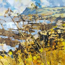 Autumn stalks, towards Prawle point 50x50cm