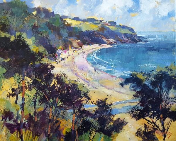Curving cove, Blackpool Sands 50x60