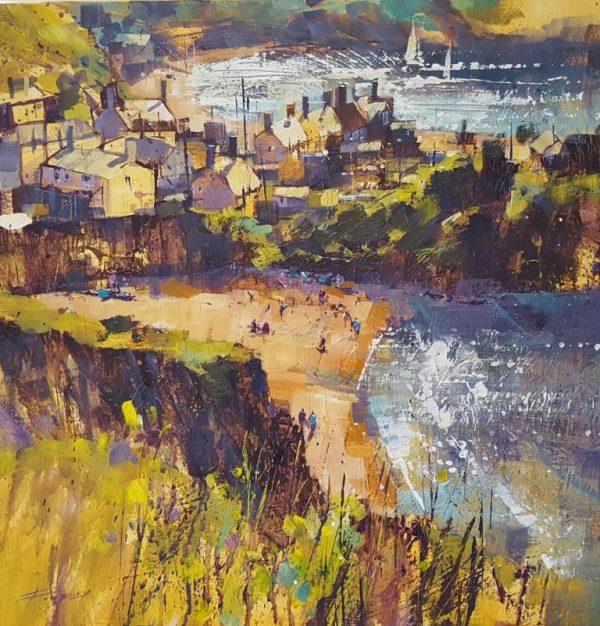 Hope Cove, summer light .50x50