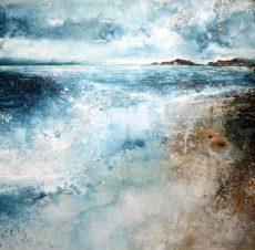 To Burgh Island (85 x 85cm) Stewart Edmondson