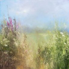 Wildflowers on a Summer's Day, Little Dartmouth....oil on canvas...60 x 60cm ...£2,395.00