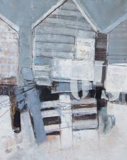 beached huts ii high and dryt 40x50