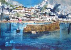 Clovelly harbour & village,