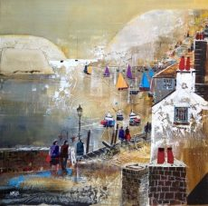 Sailboats, Bayards Cove, size 23.5 x 23.5, £995
