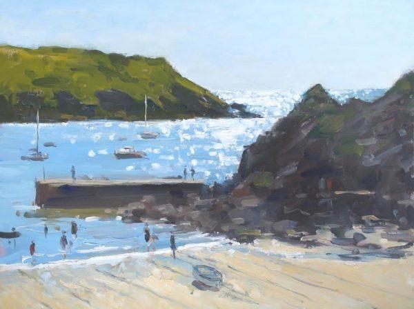 'Sparkle on the sea at Hope Cove' 30cmx40cm Oil £525