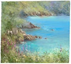 Summer Flowers at Kingswear Castle ...25 x 27cm .....£695.00...oil on paper