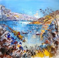 View from Noss Mayo woods to Newton Ferrers, size 23.5 x 23.5, £995