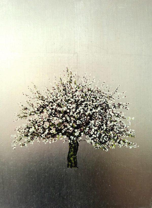CZAR, Plum, Oil on Silver Leaf, 30cm x 40cm.£475