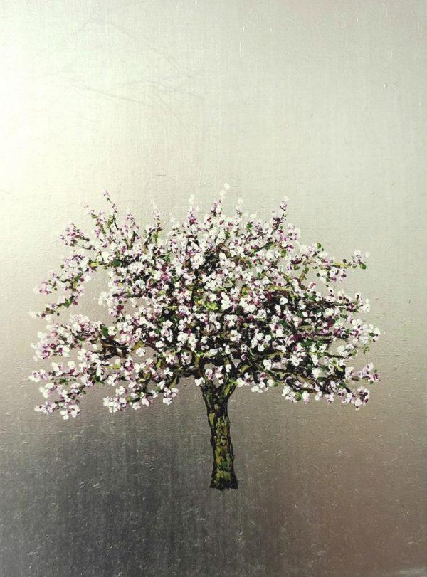 Elstar, Apple, Oil on Silver leaf, 30cm x 40cm.£475
