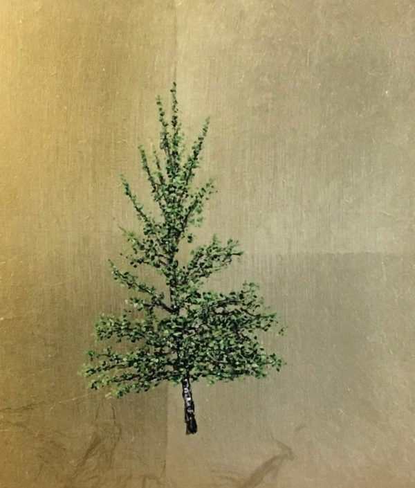 Jack Frame silver birch on gold 25x29