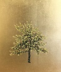 Jack Frame - yellow blossom on gold 25x29