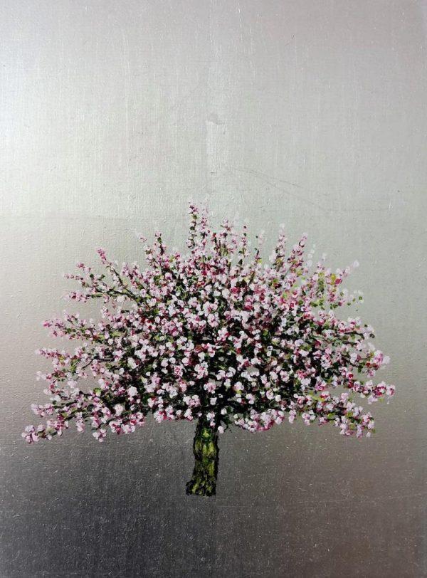 Napolean Bigarreau, Cherry, Oil on Silver Leaf, 30cm x 40cm.£475