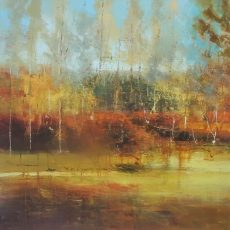 Orchestrating Autumn 100x100cm