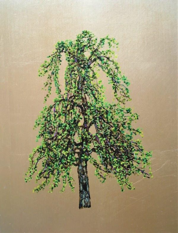 Weeping Willow, Oil on Gold Leaf, 32cm x 42cm.£500