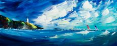 1435 Jan Nelson Regatta Round the Light 100x40cm