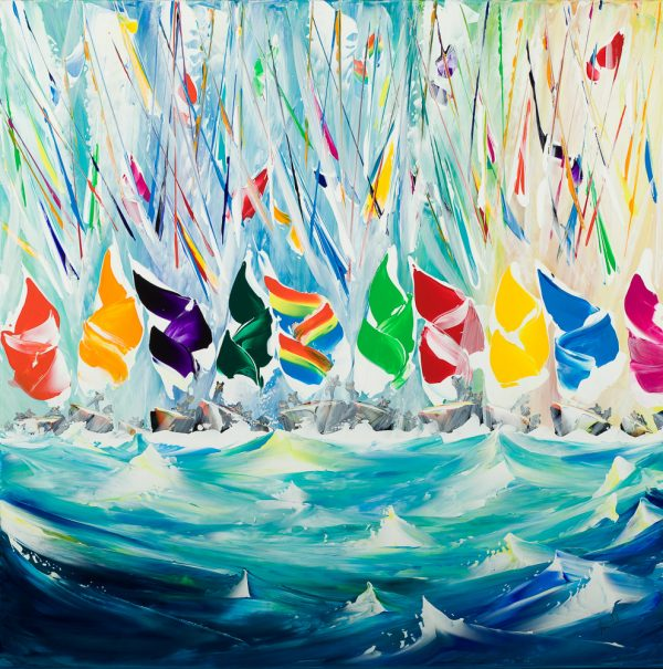 Jan Nelson Billowing Spinnakers 80x80cm