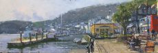 Afternoon light, Dartmouth 58x19cm Oil £745