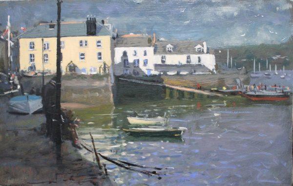 Robin Mason - Bayards Cove, Dartmouth 29x18cm Oil £495