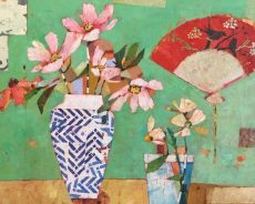 Sally Anne Fitter - Chinese Fan and two Vases 895