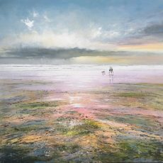 A Stroll at Dusk Michael Sanders 90 x 90 cm deep edge canvas unframed £1450 low res