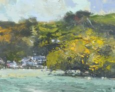 A view from the Dart. Dittisham 20x25cm acrylic on panel plus frame £650.00