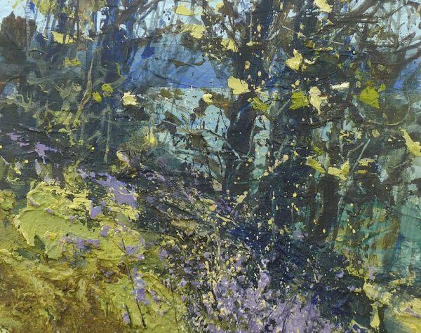 Bluebell way 20x25cm acrylic on panel plus frame £650.00