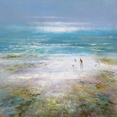 Down to the Beach Michael Sanders 90 x 90 cm deep edge canvas unframed £1450 low res