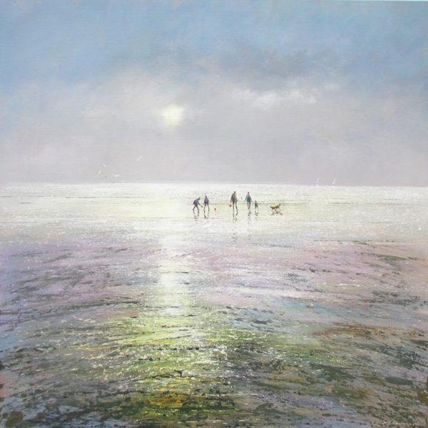 Seamist - Morning Mist Michael Sanders 90 x 90 cm deep edge canvas unframed £1450 low res